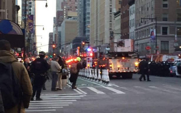 Detienen a sospechoso por explosión cerca de Times Square