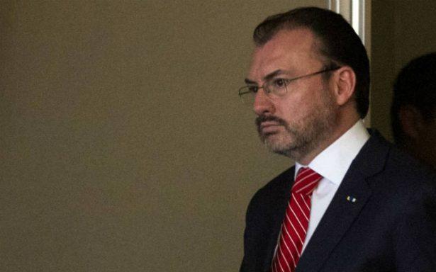 Tráfico de drogas es responsabilidad de México y EU: Videgaray a Trump