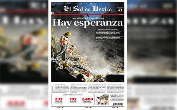 El Sol de México, premio a la excelencia en diseño