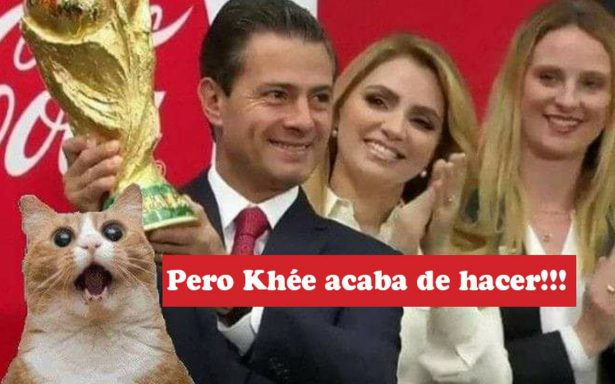 Peña Nieto levanta la Copa del Mundo y desata la ola de memes