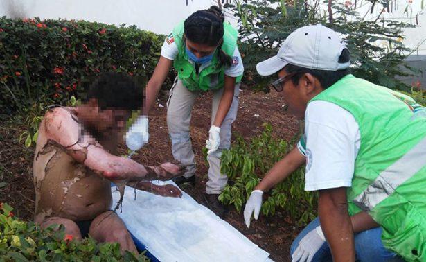 Prenden fuego a hombre que dormía en Tuxtla Gutierrez
