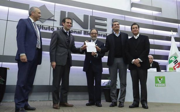 PRI, PANAL y Verde registran su alianza ante el INE