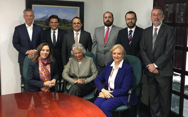 Olga Sánchez Cordero y Zoé Robledo sostienen encuentro con el INAI