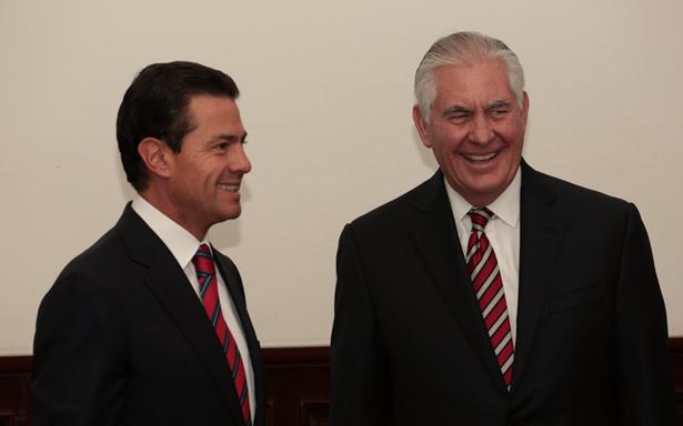 Tillerson y Peña Nieto acuerdan fortalecer cooperación bilateral