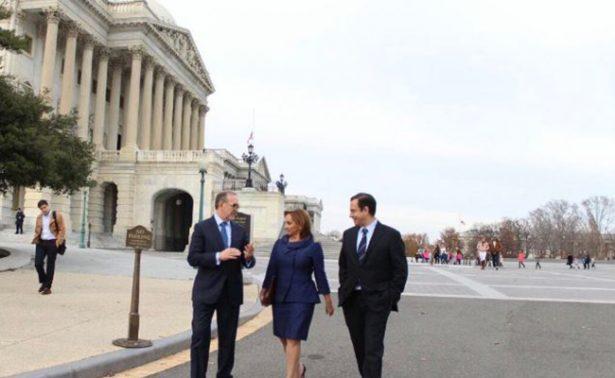 Ruiz Massieu se reúne con legisladores en Washington para abordar el TLC