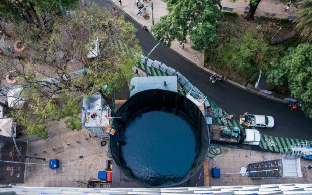 Cancelan evento Clavados de Altura en Reforma por fugas de agua en fosa