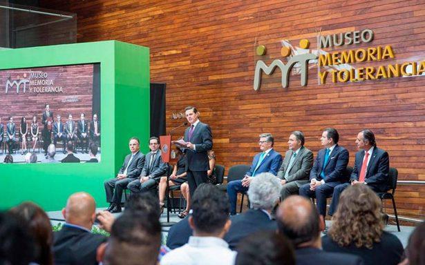 Gobierno que no acepta la crítica, siembra la intolerancia: Peña Nieto