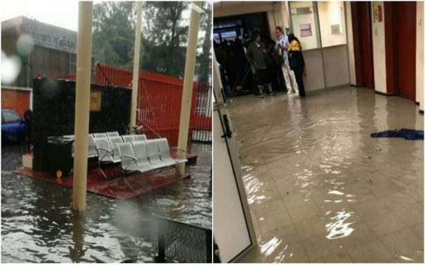 Se inunda el Hospital General de Ticomán tras fuerte lluvia