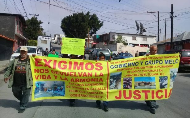 Vecinos exigen solución por derrumbes en Tijuana