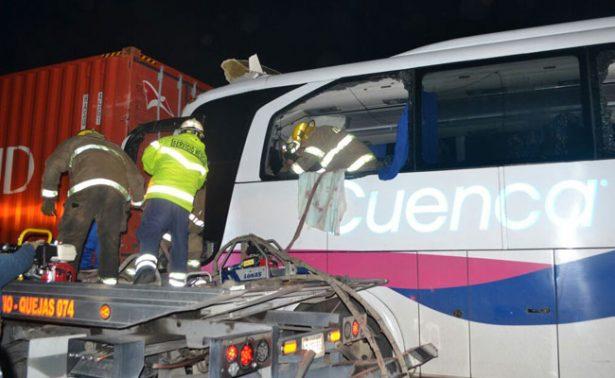 Veracruz: choque de autobús deja un muerto y 11 heridos
