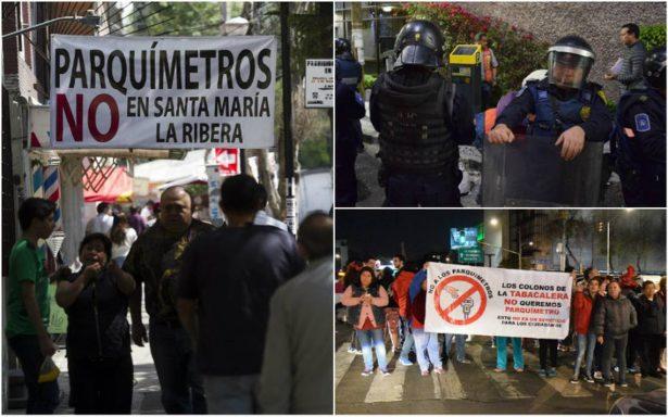 Vecinos de la Cuauhtémoc denuncian no ser tomados en cuenta en instalación de parquímetros