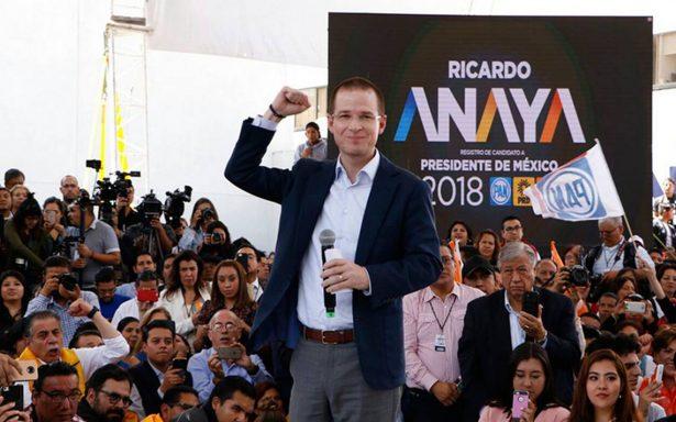 Anaya se registra como candidato presidencial y reta a AMLO a debatir