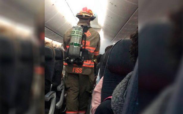 [Video] Incendio de un celular LG genera pánico en avión