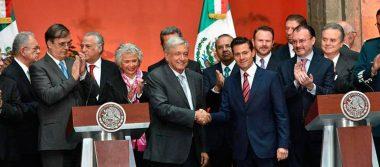 Inicia transición en clima de respeto, señalan Peña Nieto y AMLO tras reunión de gabinetes