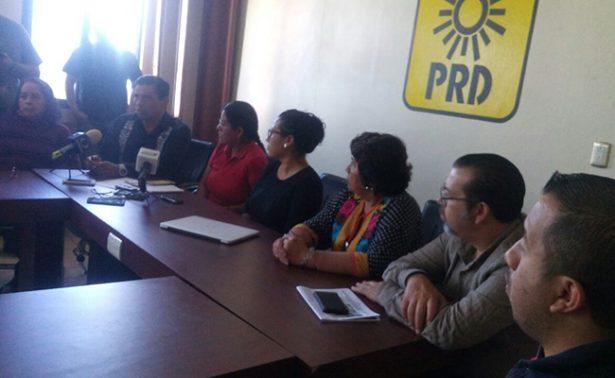 PRD exige a la fiscalía trabajar para esclarecer crímenes de sus militantes