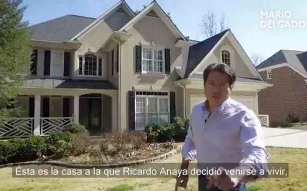 Mario Delgado ataca a Anaya con video desde su casa en Atlanta