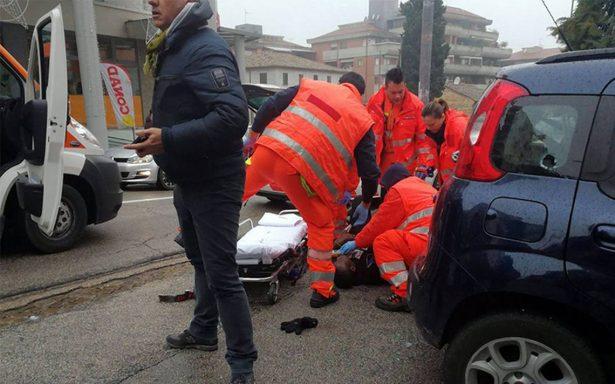 Ataque racista en Italia deja seis personas heridas