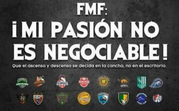 Equipos del Ascenso mandan mensaje contundente a FMF