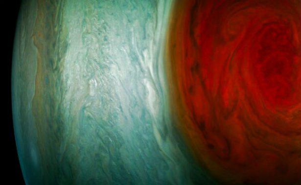 NASA revela imágenes sobre la gran mancha roja de Júpiter