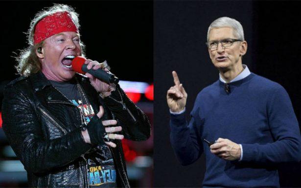 Axl Rose critica al director de Apple y lo compara con Trump