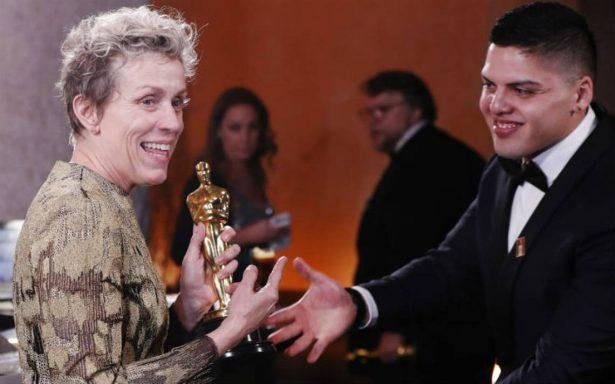 Después de ganar como Mejor Actriz, a Frances McDormand le roban su Oscar