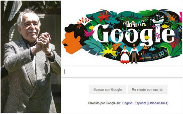 Con un doodle por su natalicio, Google rinde homenaje a Gabriel García Márquez