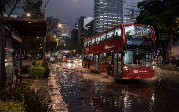 Por lluvia, activan alerta amarilla en cuatro delegaciones de la CDMX