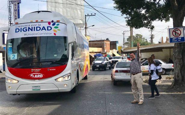 Arriba la Caravana por la Dignidad a Cuernavaca