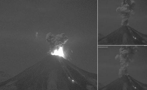 Aumenta actividad del Volcán de Colima