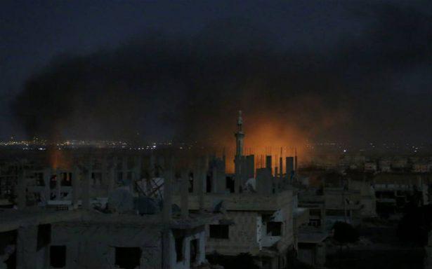 Defensa antiaérea siria intercepta misiles sobre Homs; EU se deslinda del ataque