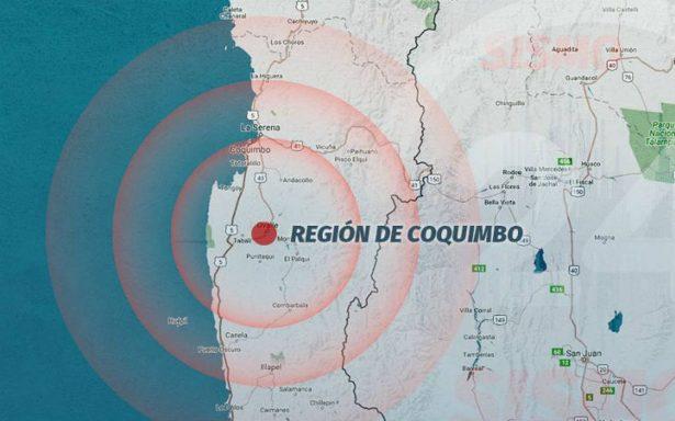 Sismo de magnitud 6.2 remece la zona centro-norte de Chile