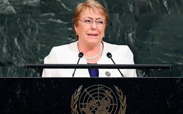 ONU confirma a Bachelet como nueva comisionada de derechos humanos