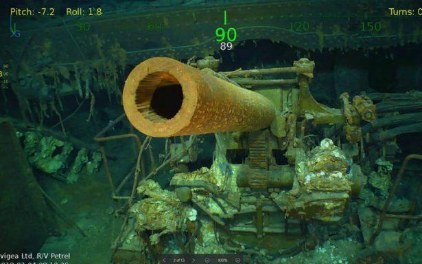 Hallan restos del portaaviones USS Lexington, hundido durante la Segunda Guerra Mundial