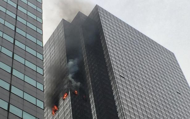 [Video] Incendio en la Trump Tower en Nueva York deja un muerto