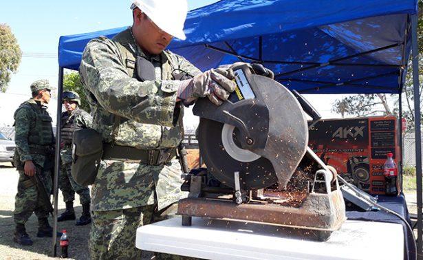 Destruye Ejército 32 armas de fuego ilegales en Irapuato