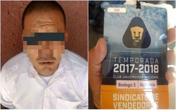 Cae trabajador de la UNAM con droga en partido Pumas-Necaxa