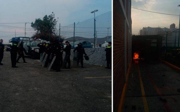 Controlan motín en penal de Texcoco; hay un lesionado