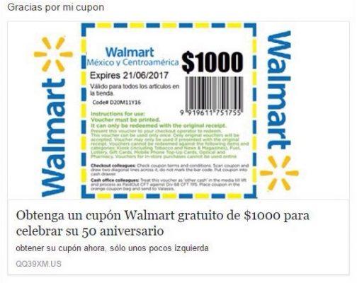 Desmienten promoción por 50 años de Walmart