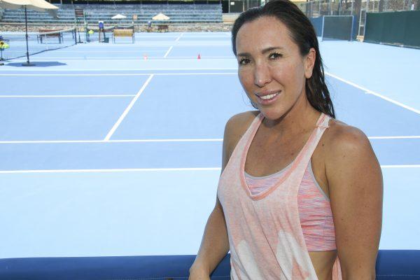 Jelena Jankovic, como en casa; la reina del ranking mundial en 2008 visitó León