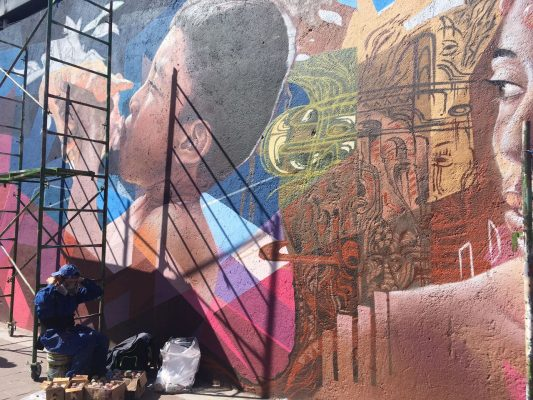 Están por terminar con los murales de la ciudad