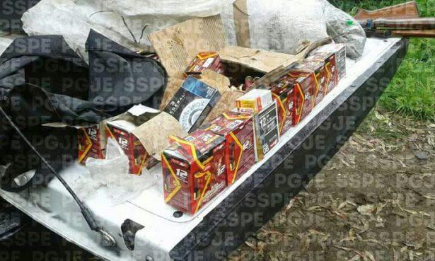 Aseguran drogas, armas y vasto arsenal balístico en Manuel Doblado