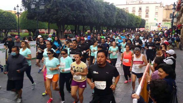 Organización de carreras atléticas, sin control de salud