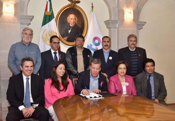 Firma Gobernador e ISSEG iniciativa para la nueva Ley del ISSEG