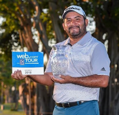 """¡Jornada inolvidable! """"El Camarón"""" Rodríguez conquistó el título del PGA Latinoamérica"""