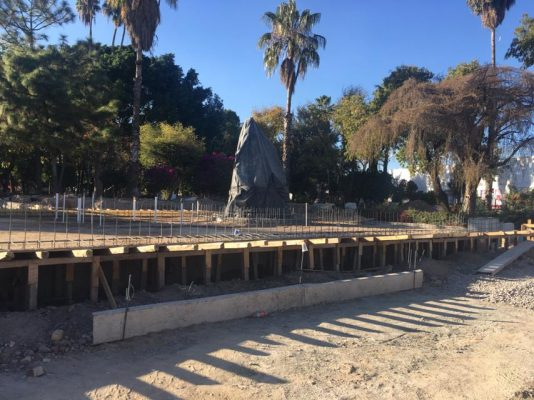 Avanza obras de rehabilitación de la segunda etapa del Parque Hidalgo