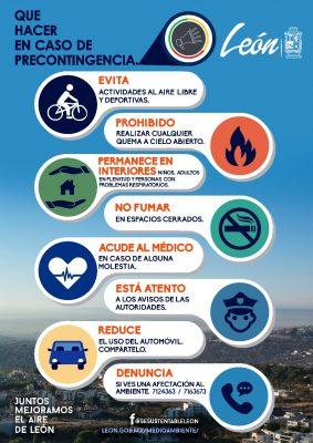 Activación de precontingencia por PM10 en el municipio de León