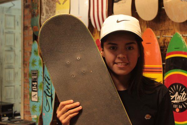 Alexa, una de las mejores patinadoras de la ciudad de León