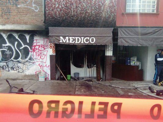Se incendia consultorio en León 1