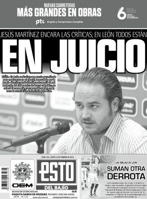 Edición digital ESTO del Bajío – jueves 22 | febrero | 2018