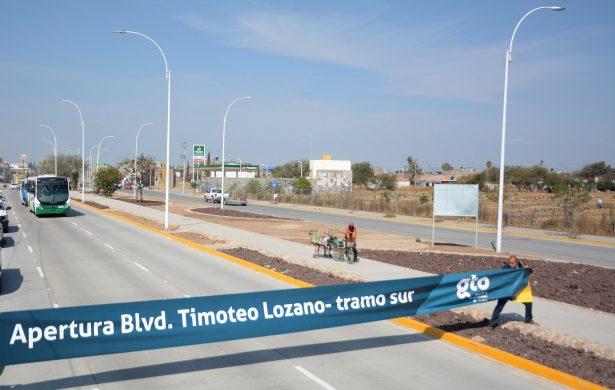 Entrega Municipio Cuerpo Sur del bulevar Timoteo Lozano